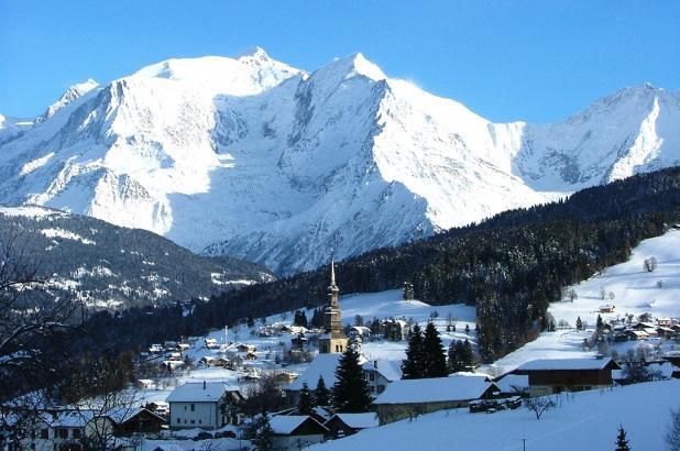 Vista de Combloux en la zona del Mont-Blanc