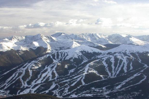 Imagen aérea de la estación de esquí de Cooper Mountain