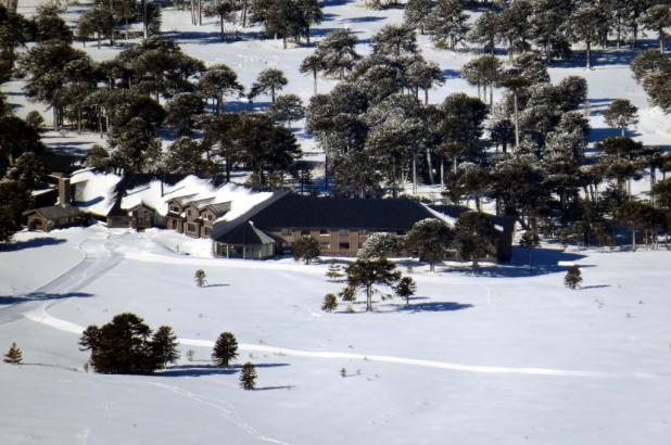 Espectacular imagen de la base estación Corralco, foto Xavier Pitu Lozano