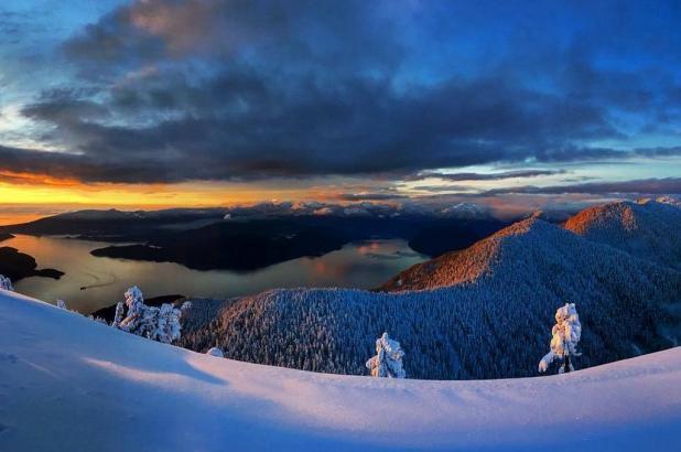 Cypress Mountain puesta sol, foto Nina Higashio
