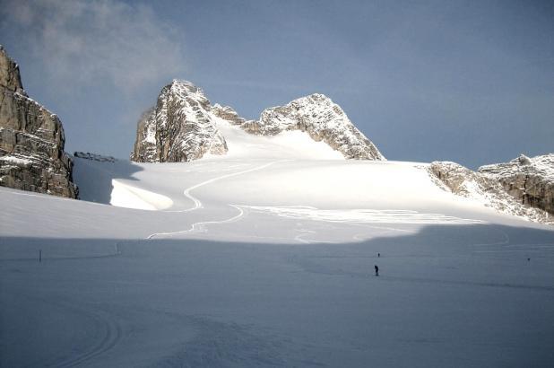 Vista del glaciar de Dachstein