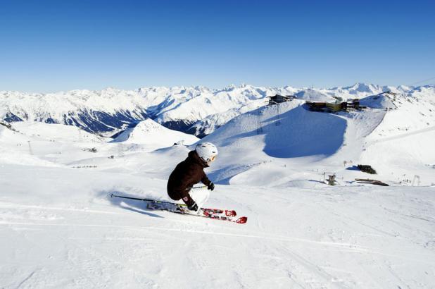 Esquiando en Davos-Klosters