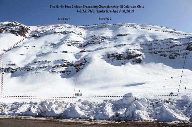 Imagen de la zona de competición del Santa Tere en el Colorado.