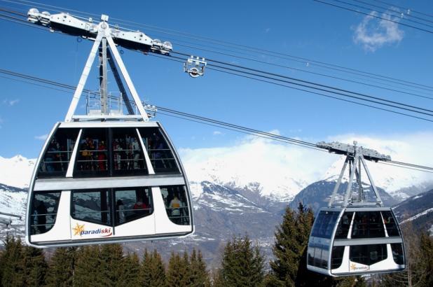 El teleférico Vanoise Express
