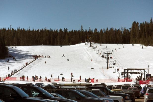 Esquiando en Eldora Mountain