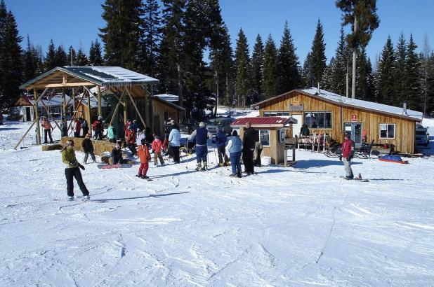 Esquiando en Ferguson Ridge