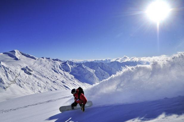 Snowboard en Revelstoke, Columbia Británica