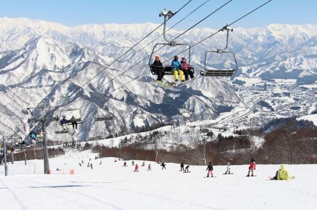 Esquiando en Gala Yuzawa