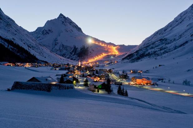 Una bonita imagen de Galtür en el valle de Paznaun
