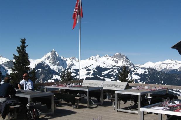 Bonitas vistas desde este restaurante en Wasserngrat