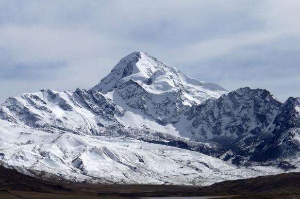 Chacaltaya en Bolivia, imagen del nevado Huayna Potosí
