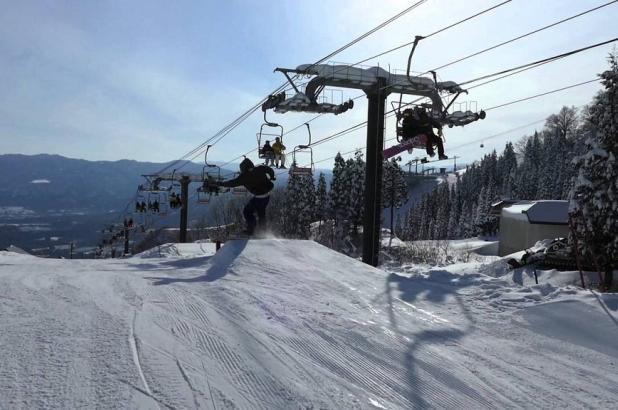 En el snowpark de Iox Arosa