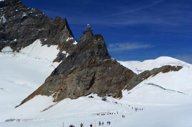 Imagen del glaciar de la Jungfrau tomada el 22 de agosto del 2013 por Lugares de Nieve