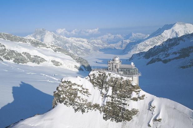 Panorámica de Jungfraujoch y el glaciar de Aletsch