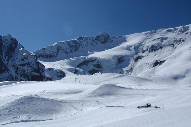 vista del glaciar de Kaunertal en el Tirol