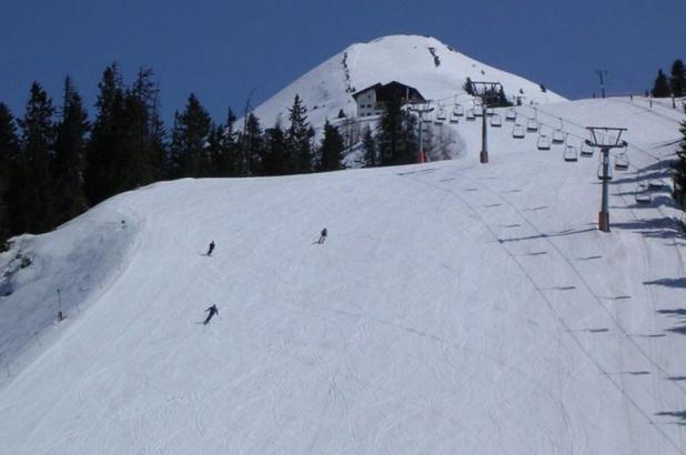 Esquiando en Kellerjoch