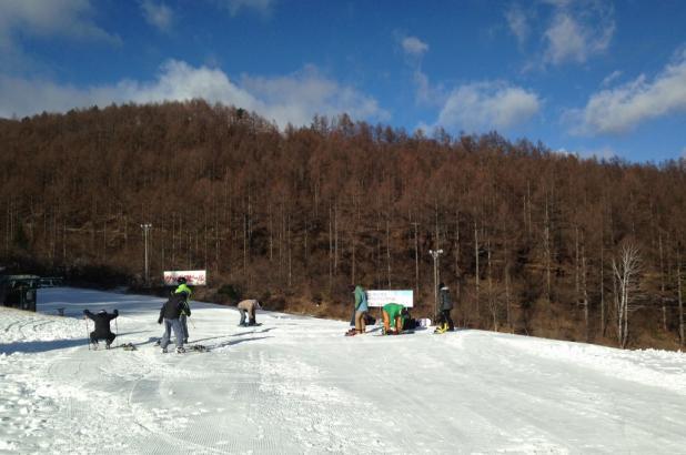 Esquiando en Koumi Riekkusu Ski Valley