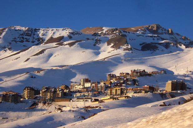 Imagen del centro de esqui de La Parva en Chile