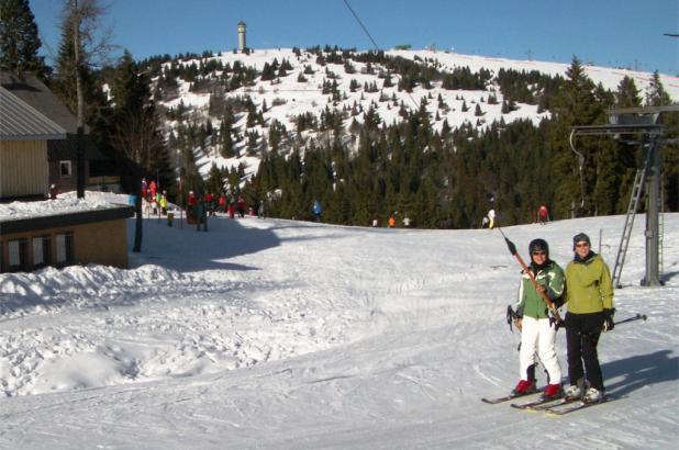 Bonito día de esquí en Langenbruck