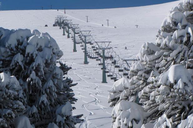 Bonita imagen del centro de esquí de Las Araucairas