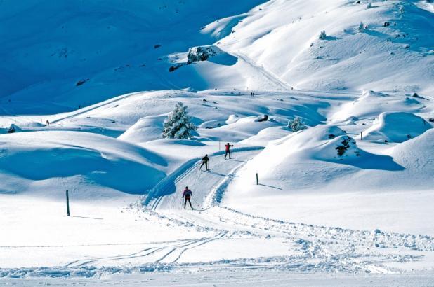 Bonita imagen de la estación de esquí nórdico de Le Somport