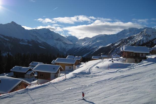 Esquiando en Les Collons