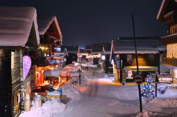 Foto nocturna de Livigno