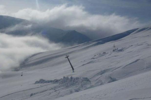 Paisaje nevado en Lungern