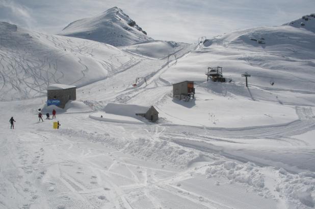 Paisaje nevado en Macugnaga