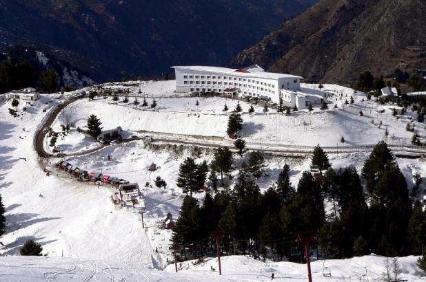 Malam Jabba Ski Resort en el valle de Swat, Pakistán