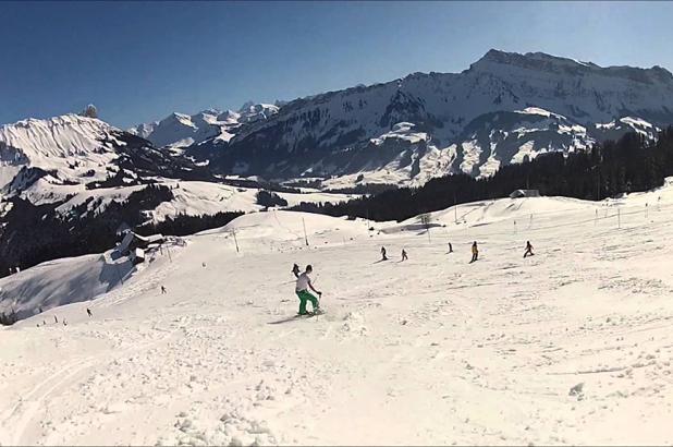 Esquiando en Marbachegg