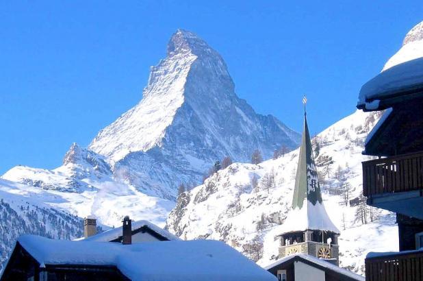 Vista del Matterhorn desde la población de Zermatt
