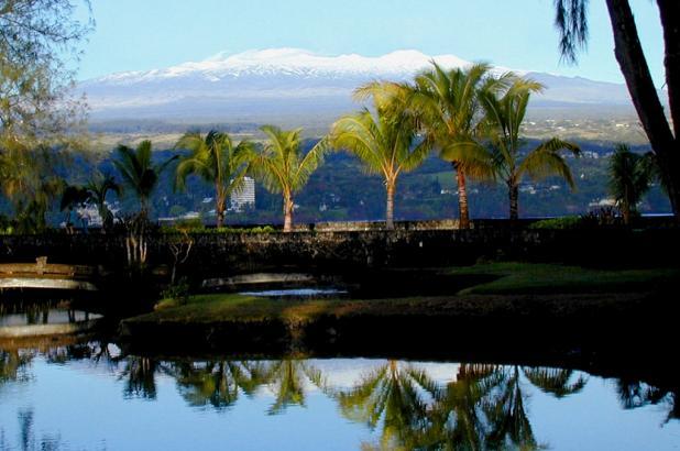 Vista del volcán de Mauna Kea