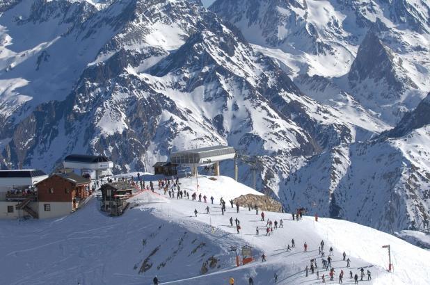 Imagen de la estación de esquí de Meribel en la saboya