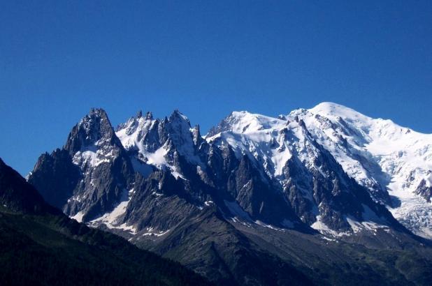 imagen del Mont Blanc en la Alta Saboya