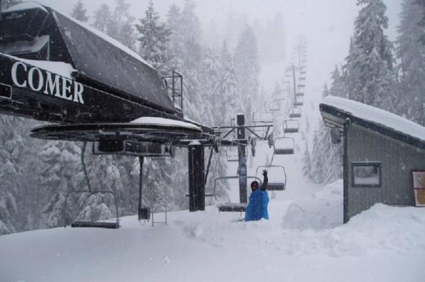 Nevando en Mt. Ashland