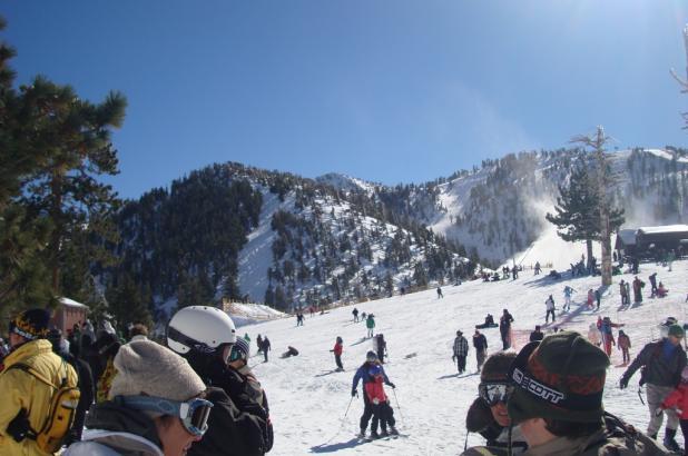 Esquiando en Mt. Baldy