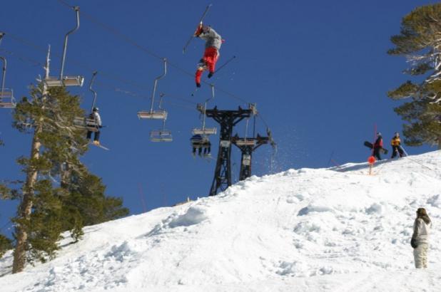 Esquiando en Mount Baldy