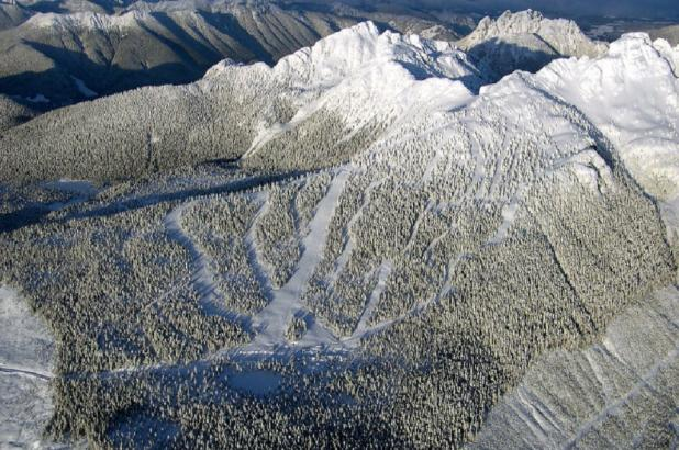 Vista aérea de Mount Cain