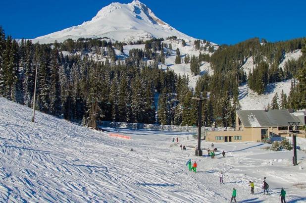 Esquiando en Mt. Hood Meadows