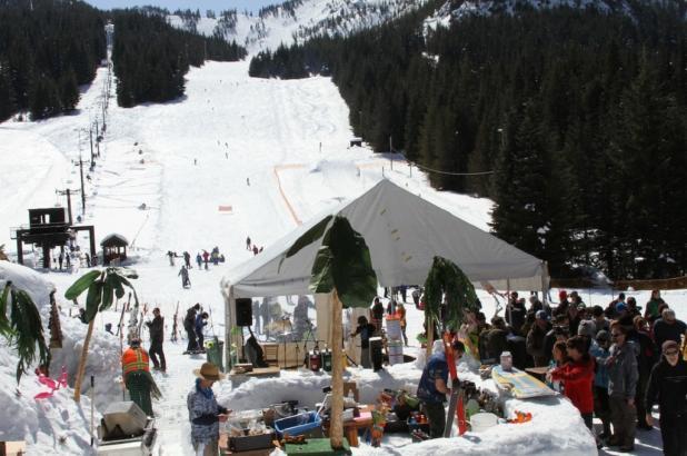 Ambiente veraniego en Mt. Hood Skibowl