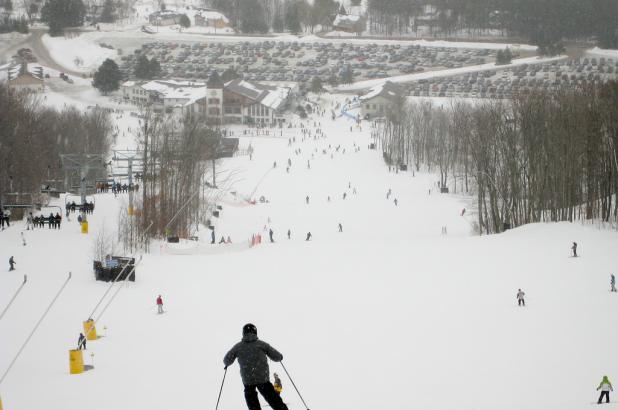 Esquiando en Mount St. Louis