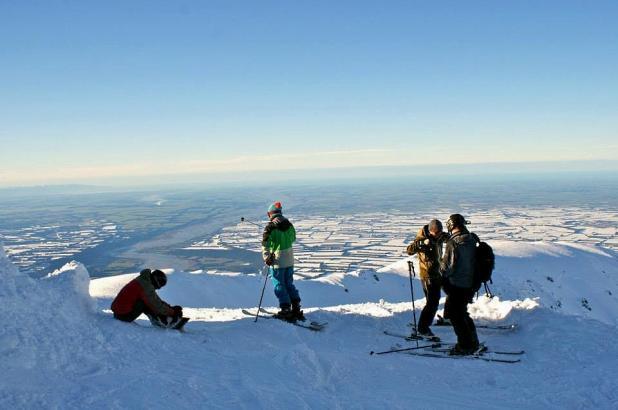 Vista del Mt. Hutt este mes de junio 2013