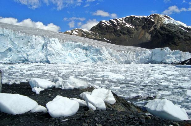 Imagen del glaciar del nevado Pastoruri en Perú