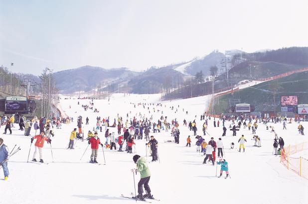 Esquiando en Oak Valley