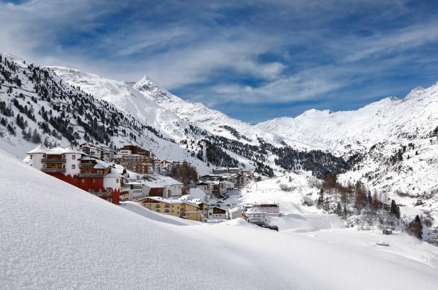 Panorama invernal en Obergurgl