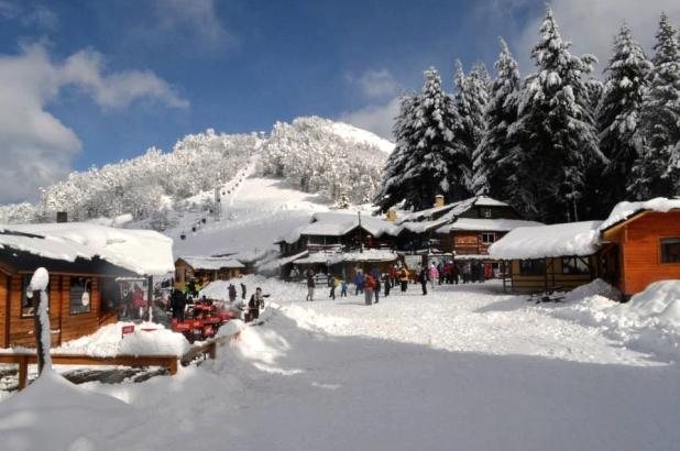 Bonita imagen del centro invernal de Piedras Blancas