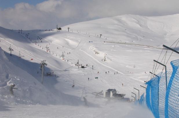 Pista de Chagunachos en la estación de esquí de Leitariegos