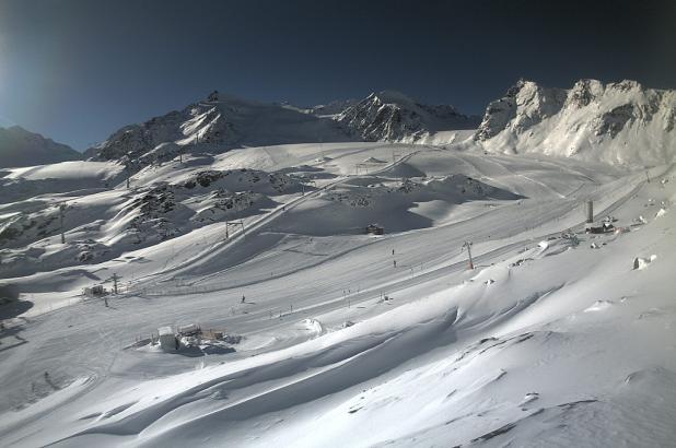 Aspecto del glaciar de Pitzal en diciembre del 2012