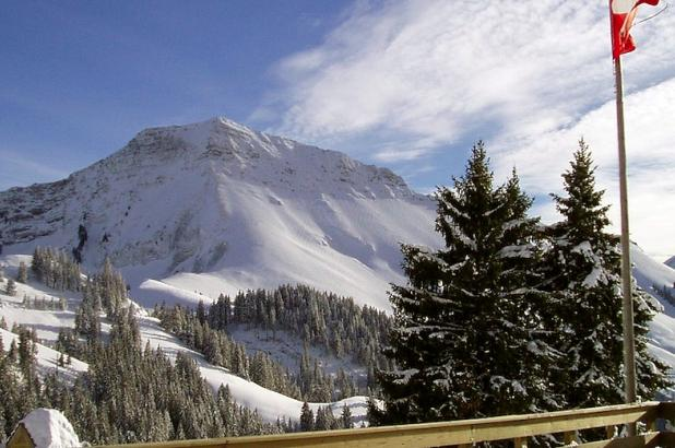 Foto de la estación suiza de Rathvel, crédito I Love Ski